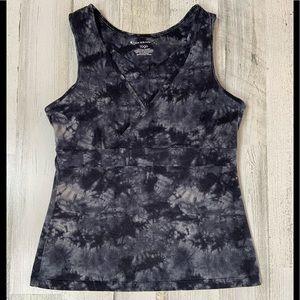 TekGear yoga grey tie dye v-neck tank